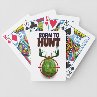 easter funny design, Born to hunt deer egg shooter Bicycle Playing Cards