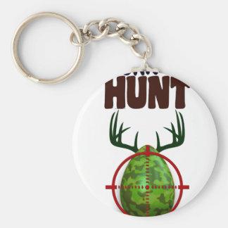easter funny design, Born to hunt deer egg shooter Keychain