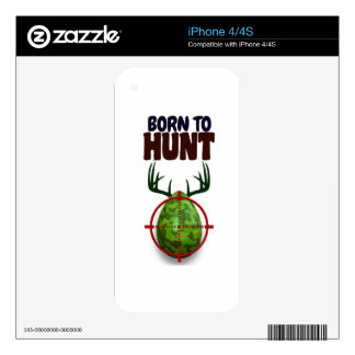 easter funny design, Born to hunt deer egg shooter Skin For The iPhone 4S