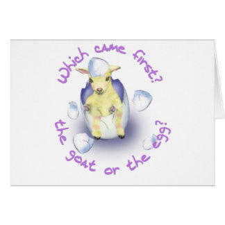 Easter Funny Goat Card