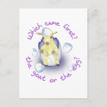 Easter Funny Goat Holiday Postcard