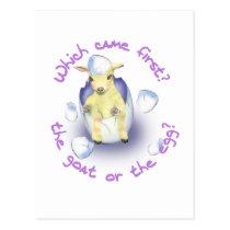 Easter Funny Goat Postcard