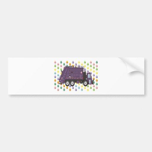 Easter Garbage Truck Bumper Sticker