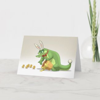Easter Gator Card (Blank Inside) card