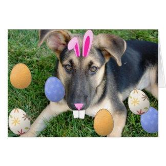 Easter German Shepherd Card