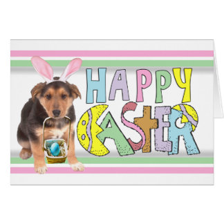 Easter German Shepherd Puppy Stationery Note Card