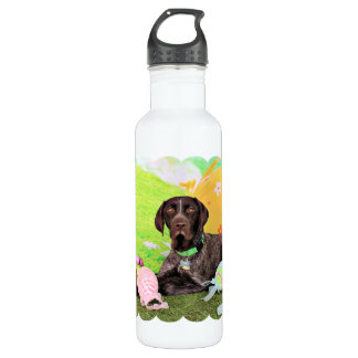 Easter - German Shorthair Pointer - Kaiser 24oz Water Bottle