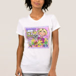 Easter Gift Basket Cat & Lady T-Shirt