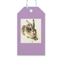 EASTER Gift Tag ALBRECHT DURER RABBIT IN LAVENDER