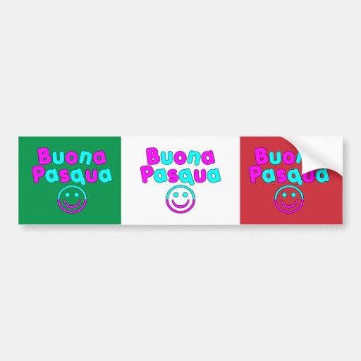 Easter Gifts for Italian Speakers : Buona Pasqua Bumper Stickers