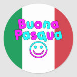 Easter Gifts for Italian Speakers : Buona Pasqua Round Stickers