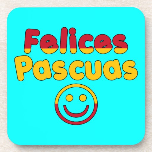 Easter Gifts for Spanish Speakers  Felices Pascuas Beverage Coasters