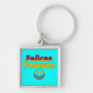 Easter Gifts for Spanish Speakers Felices Pascuas Keychain