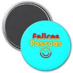 Easter Gifts for Spanish Speakers  Felices Pascuas Fridge Magnet
