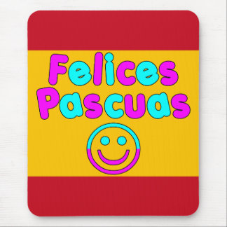Easter Gifts for Spanish Speakers  Felices Pascuas Mouse Pad