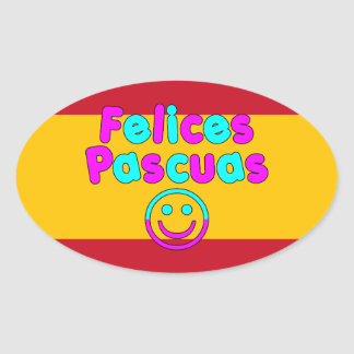 Easter Gifts for Spanish Speakers  Felices Pascuas Sticker