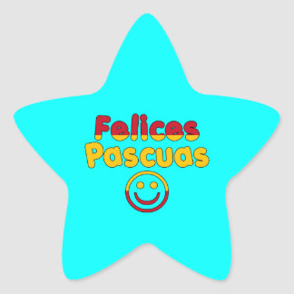 Easter Gifts for Spanish Speakers  Felices Pascuas Star Stickers
