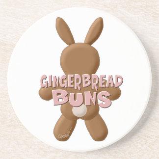 Easter Gingerbread Buns Drink Coaster
