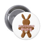 Easter Gingerbread Buns Pinback Buttons