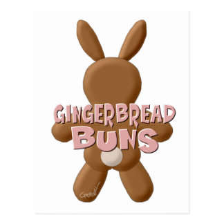 Easter Gingerbread Buns Postcard
