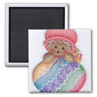 Easter Gingerbread & Chick Magnet