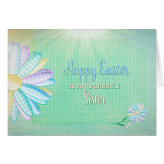 Easter - Gingham Daisy - My Sister Card