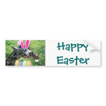 Easter Giraffe Bumper Sticker