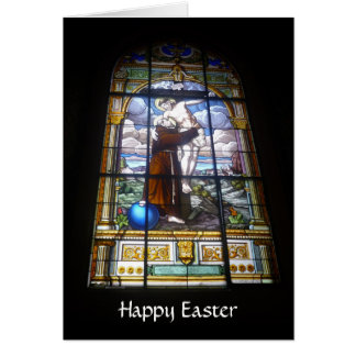 easter glass card