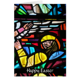 easter glass greeting card