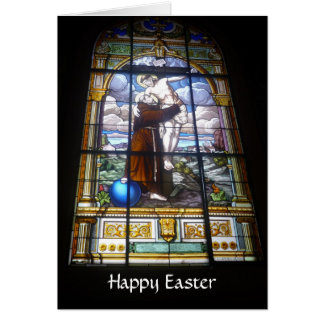 easter glass window greeting card