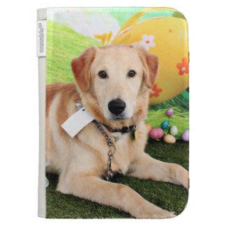 Easter - Golden Retriever - Augie Kindle Folio Cases