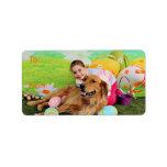 Easter - Golden Retriever - Beam Address Label