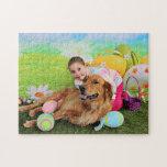 Easter - Golden Retriever - Beam Jigsaw Puzzles