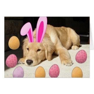 Easter Golden Retriever Card
