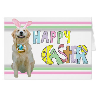 Easter Golden Retriever Card