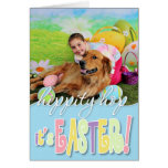 Easter - Golden Retriever - Copper Greeting Cards