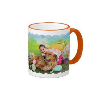 Easter - Golden Retriever - Copper Ringer Coffee Mug
