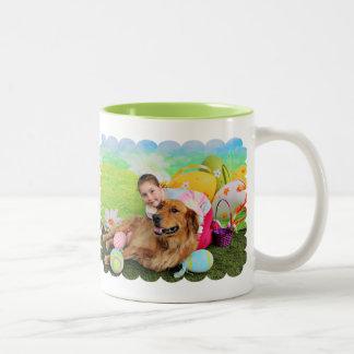 Easter - Golden Retriever - Copper Two-Tone Coffee Mug