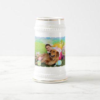 Easter - Golden Retriever - Copper 18 Oz Beer Stein