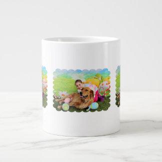 Easter - Golden Retriever - Copper 20 Oz Large Ceramic Coffee Mug