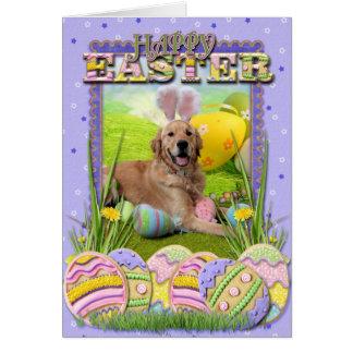 Easter - Golden Retriever - Frank Greeting Card