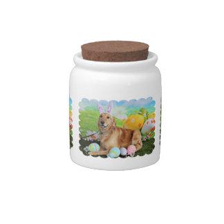 Easter - Golden Retriever - Molly Candy Dish