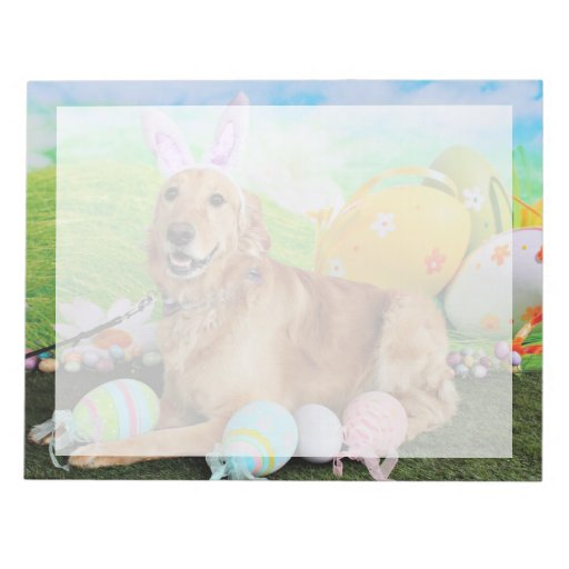 Easter - Golden Retriever - Molly Note Pad