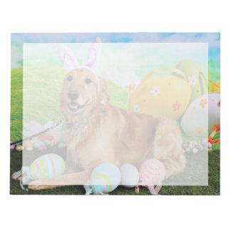 Easter - Golden Retriever - Molly Memo Note Pads