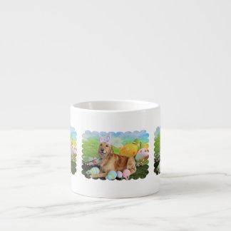 Easter - Golden Retriever - Molly 6 Oz Ceramic Espresso Cup