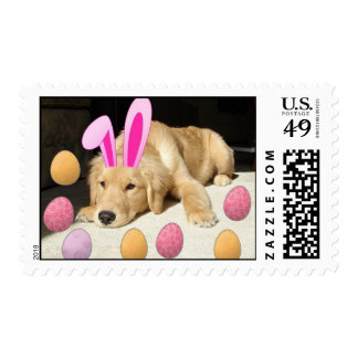 Easter Golden Retriever Postage