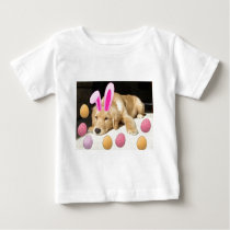 Easter Golden Retriever Puppy Baby T-Shirt