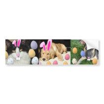 Easter Golden Retriever Puppy Bumper Sticker