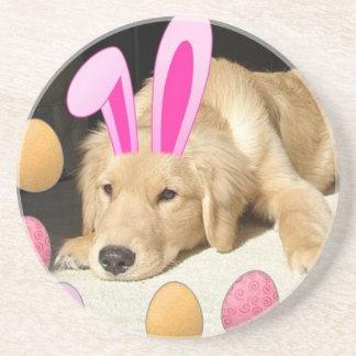 Easter Golden Retriever Puppy Coaster