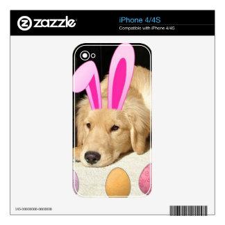 Easter Golden Retriever Puppy iPhone 4 Decals